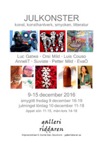 Galleri Riddaren i Gamla Stan 9-15 december-16